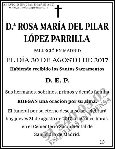 Rosa María del Pilar López Parrilla